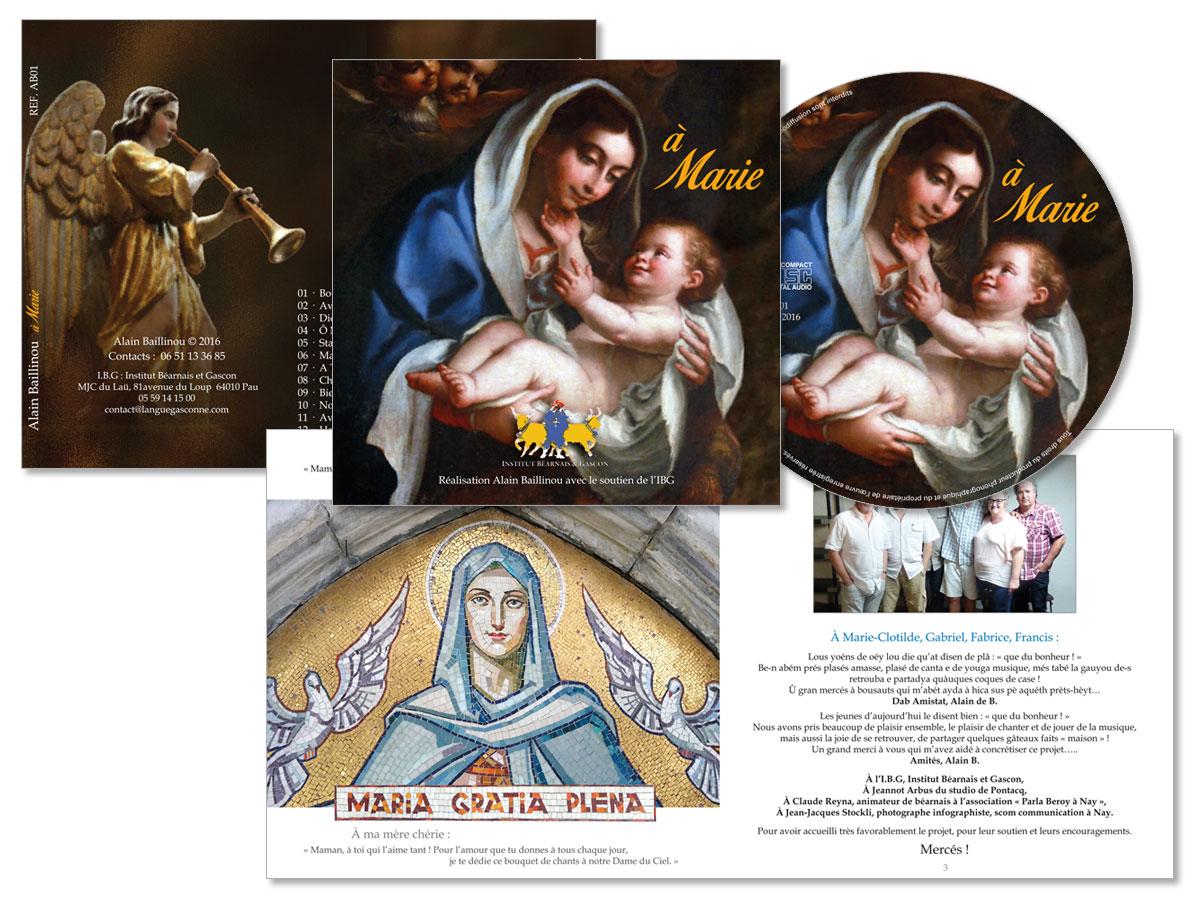 """""""à Marie"""" le nouveau CD d'Alain Baillinou"""