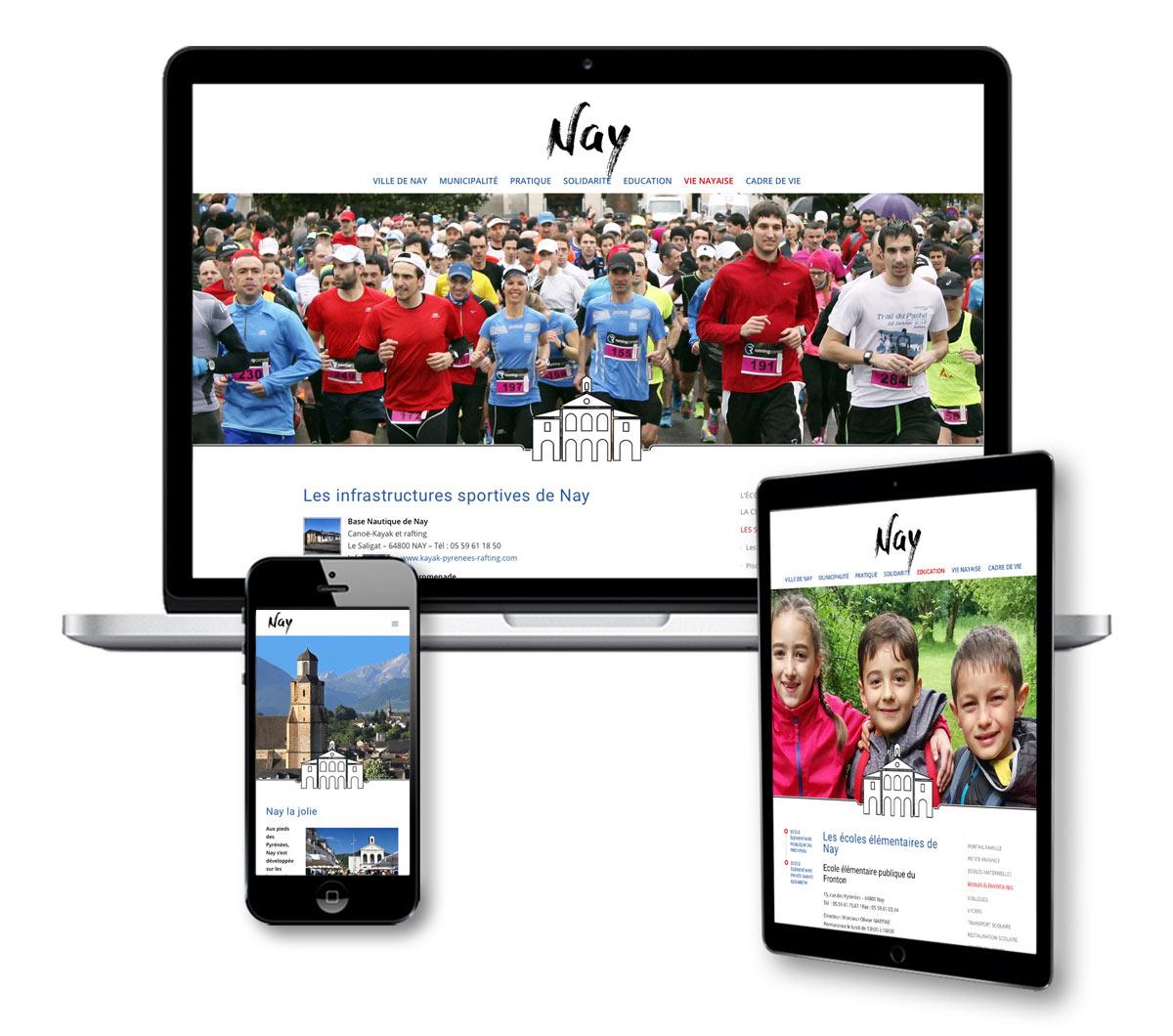 Nouveau site internet de Ville de Nay - une création scom communication